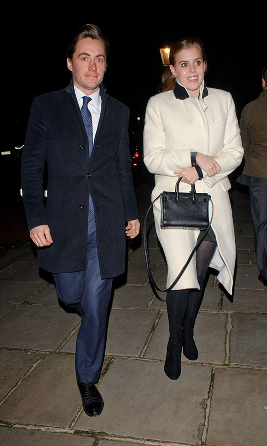 <h2>December 2019</h2><p>The engaged couple stepped out to Evgeny Lebedev's Christmas Party in London on Dec. 13. <p>Photo: &copy; GORC/GC Images