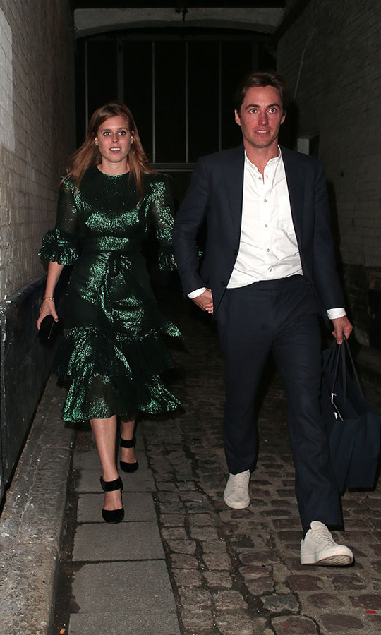 <h2>October 2019</h2><p>After making their engagement announcement, the newly engaged couple made their first public appearance at <em>The Dior Sessions</em> book launch after-party on Oct. 1 in London. <p>Photo: &copy; Ricky Vigil M/GC Images