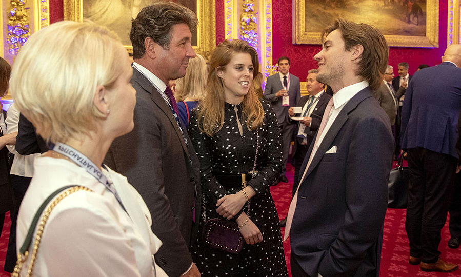 <h2>June 2019</h2><p>The next month, Beatrice and Edoardo attended a Pitch@Palace event at St. James's Palace on June 12 in London. <p>Photo: &copy; Steve Parsons – WPA Pool/Getty Images