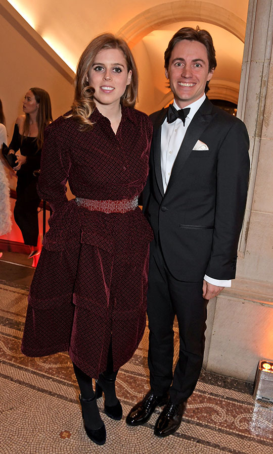 "<h2>March 2019</h2><p>Princess Beatrice and Edoardo reportedly first met at a party hosted by Indian billionaire <strong>Lakshmi Mittal Diwali</strong> in London in September 2018. <p>On March 12, 2019, the happy couple stepped out for their public debut to The Portrait Gala, hosted by <strong>Dr Nicholas Cullinan</strong> and <em>British Vogue</em> editor <strong>Edward Enninful</strong>. The London event raised funds for the National Portrait Gallery's ""Inspiring People"" project. <p>Photo: &copy; David M. Benett/Dave Benett/Getty Images"