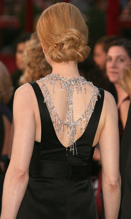 And the incredible piece continued down her back! <p>Photo: &copy; Steve Granitz/WireImage
