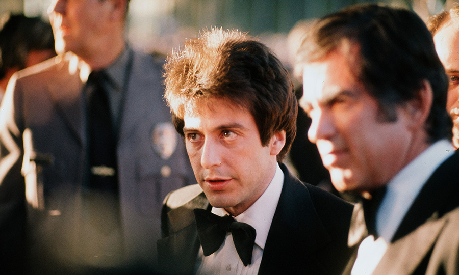 Sadly, we don't have an image from <strong><a href=/tags/0/al-pacino>Al Pacino</a></strong>'s first Oscars, which was in 1973, when he was nominated for Best Supporting Actor for <i>The Godfather</i>. But the next year, he was also up for an award, nominated for Best Actor for his performance in <i>Serpico</i>.