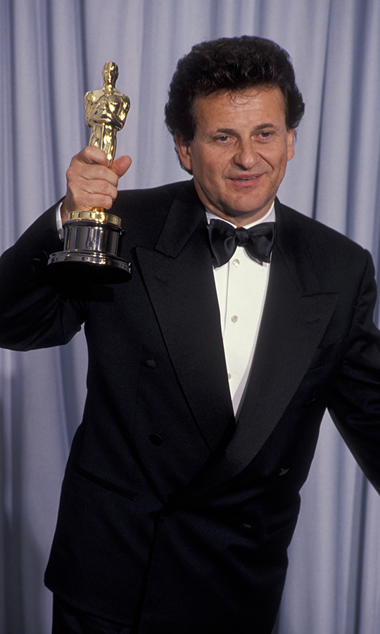 Unfortunately, we don't have a photo of <strong>Joe Pesci</strong> from his first Oscars, when he was nominated for Best Supporting Actor for his role in <i>Raging Bull</i> in 1981. But we do have this awesome picture of him winning Best Supporting Actor for <i>Goodfellas</i> in 1991! He's up for the same award this year for <i>The Irishman</i>.