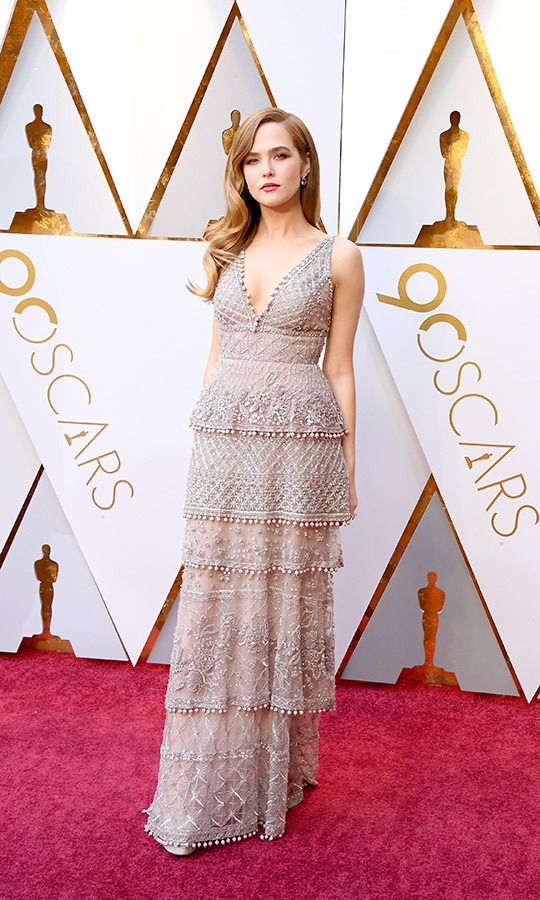 <strong><a href=/tags/0/florence-pugh>Florence Pugh</a></strong> is also relatively new to the Oscars. She chose a gorgeous lace gown for her first Academy Awards in 2018. 
