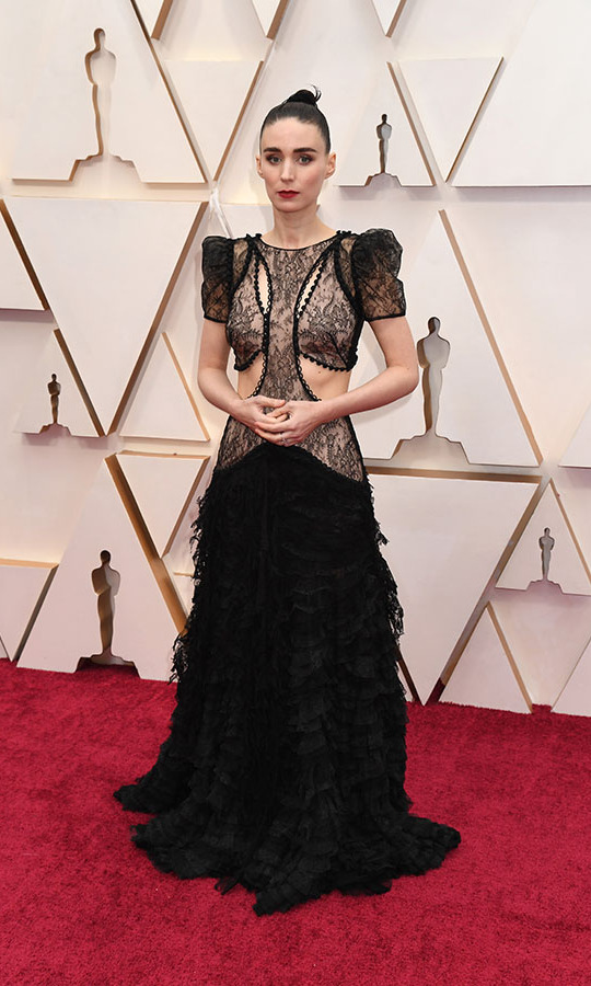 <a href=/tags/0/rooney-mara><strong>Rooney Mara</strong></a>'s black lace dress had so many details to take in! <p>Photo: &copy; Jeff Kravitz/FilmMagic