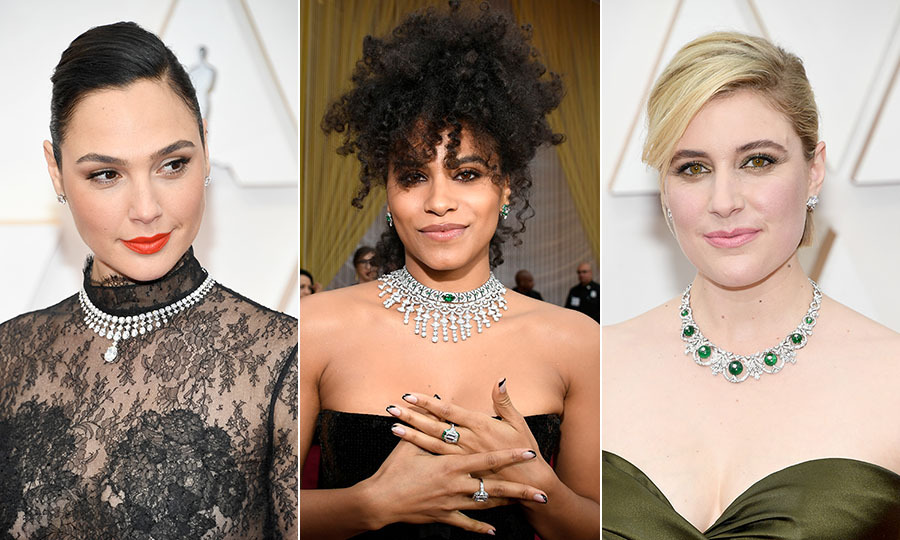 <strong>By Heather Cichowski</strong><p>The <a href=/tags/0/2020-oscars><strong>2020 Oscars</strong></a> certainly had shine thanks to all of the dazzling jewellery. Celebrities on the <a href=/tags/0/2020-academy-awards><strong>2020 Academy Awards</strong></a> red carpet brought out their most head-turning outfits to end awards season on a high, and that included accessorizing with some of the most striking jewels. A-listers like <a href=/tags/0/charlize-theron><strong>Charlize Theron</strong></a>, <a href=/tags/0/florence-pugh><strong>Florence Pugh</strong></a> and <a href=/tags/0/cynthia-erivo><strong>Cynthia Erivo</strong></a> were dripping with diamonds – and many other brilliant stones – on their necks, wrists, fingers and occasionally heads.<p><strong>Scroll through the gallery (or click through if you're on desktop) to see all the most beautiful jewels from the 2020 Oscars red carpet.</strong><p>Photos: &copy; Kevin Mazur/Getty Images, Kevork Djansezian/Getty Images, Kevin Mazur/Getty Images