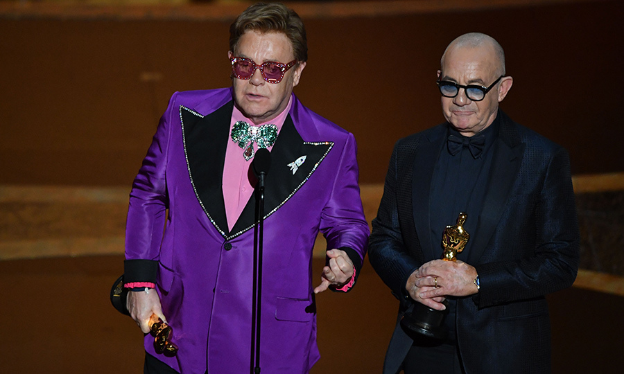 "<strong><a href=/tags/0/elton-john>Elton John</a></strong> and <strong>Bernie Taupin</strong> picked up their first Oscar together for ""(I'm Gonna) Love Me Again"" from <i>Rocketman</i>. It won Best Original Song. Elton has won an Oscar before, having picked up the same award for ""Can You Feel the Love Tonight"" from <i>The Lion King</i> in 1995, but this win with Bernie, who is his longtime songwriting partner, must have been incredibly sweet.