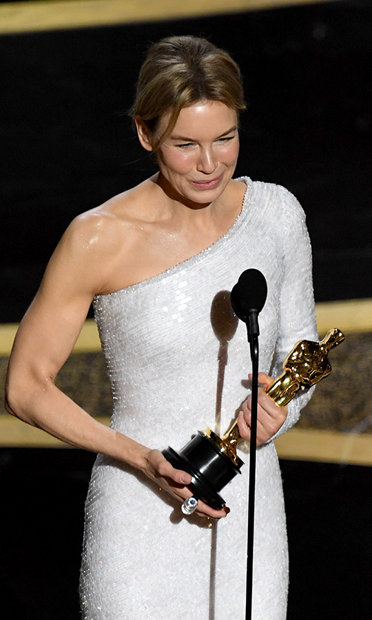 <strong><a href=/tags/0/renee-zellweger>Renee Zellweger</a></strong> received yet another award for her performance as <strong>Judy Garland</strong> in <i>Judy</i>, winning Best Actress.