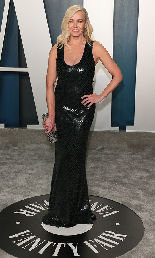 Comedienne <a href=/tags/0/chelsea-handler><strong>Chelsea Handler</strong></a> sparkled in a black gown. <p>Photo: &copy; JEAN-BAPTISTE LACROIX/AFP via Getty Images
