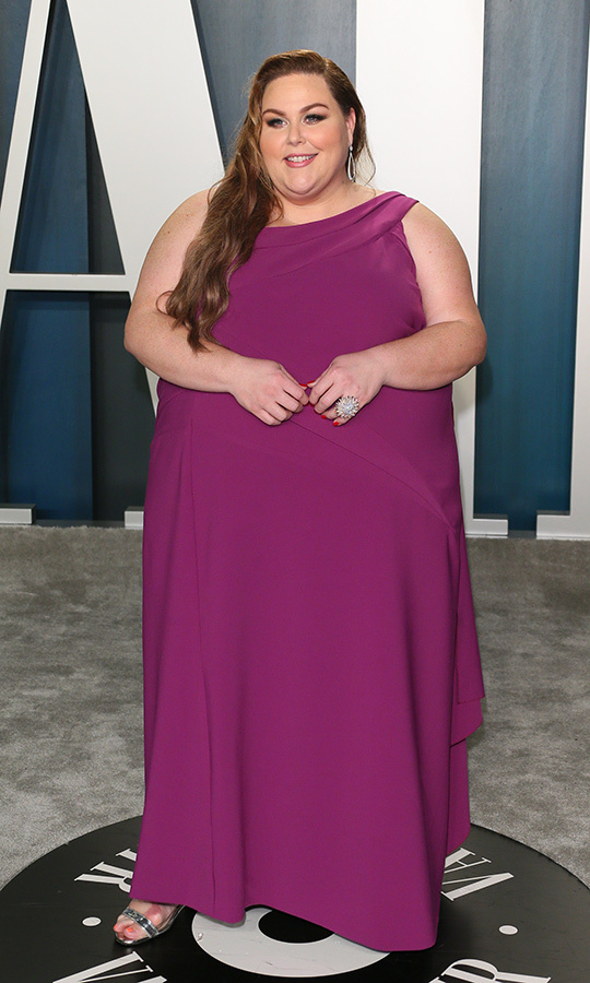 <strong><a href=/tags/0/chrissy-metz>Chrissy Metz</a></strong> looked gorgeous in plum.