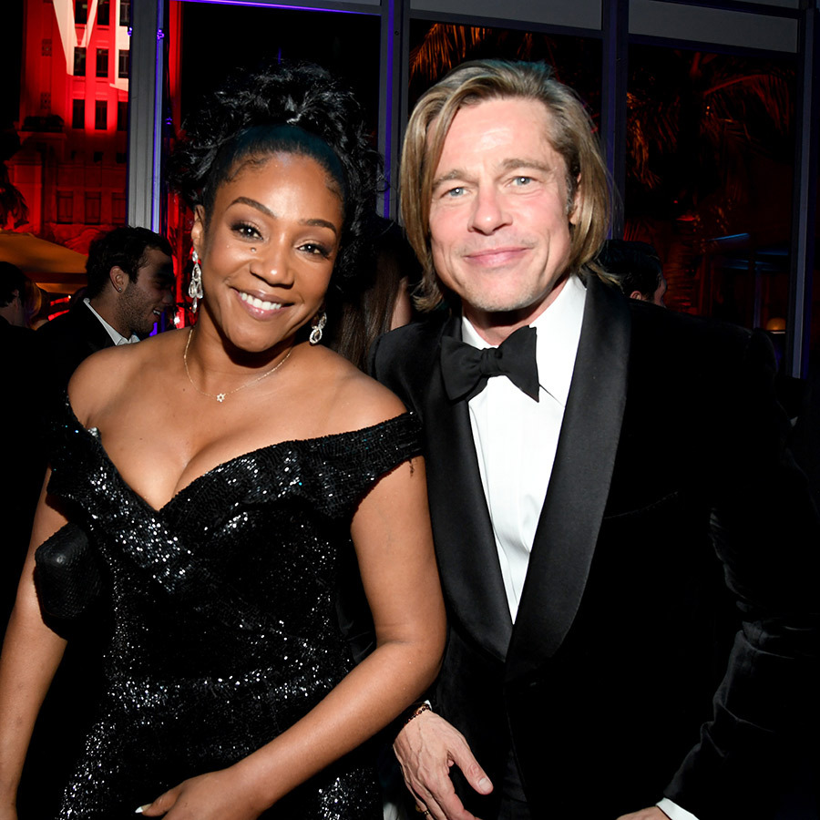 <strong><a href=/tags/0/tiffany-haddish>Tiffany Haddish</a></strong> also stopped to take a photo with him.