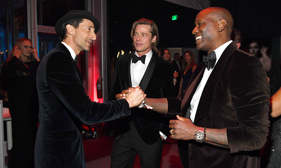He also got to chat with previous Best Actor winner <strong><a href=/tags/0/adrien-brody>Adrien Brody</a></strong> and <Strong><a href=/tags/0/tyrese-gibson>Tyrese Gibson</a></strong>, who were also happy to see each other.