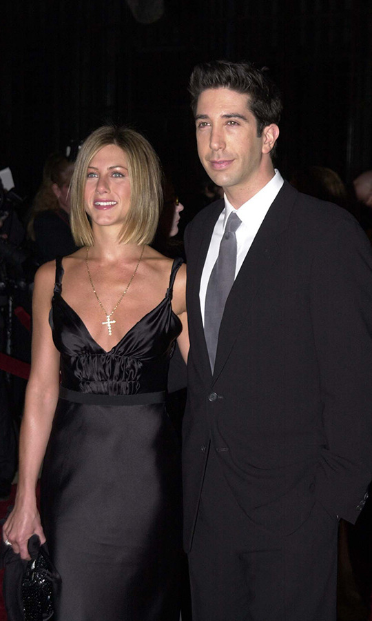 <h2>2001</h2><p>Rachel and Ross! The <em>Friends</em> stars struck a pose together at the 2001 People's Choice Awards.<p>Photo: &copy; Jeff Kravitz/FilmMagic, Inc
