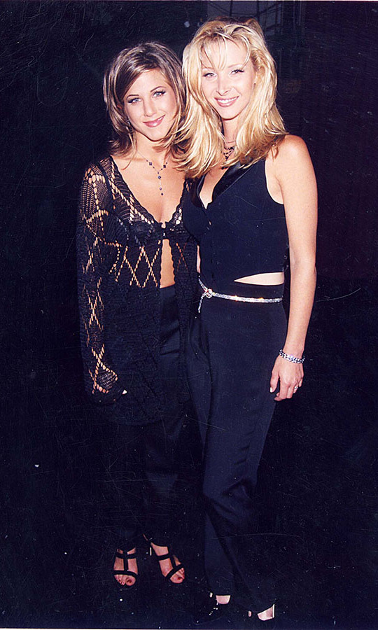 <h2>1995</h2><p>Jennifer and <em>Friends</em> co-star <a href=/tags/0/lisa-kudrow><strong>Lisa Kudrow</strong></a> hung out during the 1995 VH1 Honors in Los Angeles. <p>Photo: &copy; Jeff Kravitz/FilmMagic