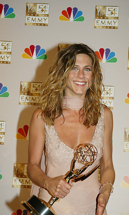 <h2>2002</h2><p>Jen took home the Outstanding Lead Actress In A Comedy Series award for <em>Friends</em> at the 54th Annual Primetime Emmy Awards.<p>Photo: &copy; Mathew Imaging/FilmMagic