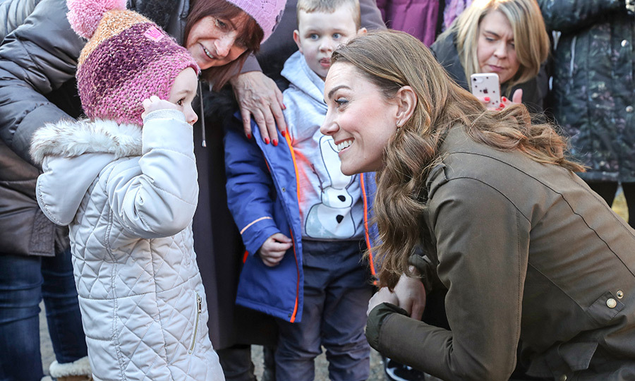Kate was friendly with the kids right away, as she always is. The mom of three was very pleased to meet the youngsters!