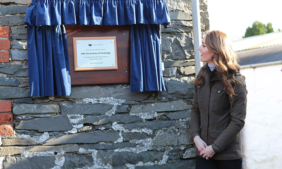 Kate got to unveil a plaque marking her visit. 