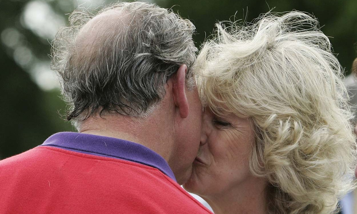 Pucker up! <a href=/tags/0/camilla-parker-bowles><strong>Duchess Camilla</strong></a> gave <a href=/tags/0/prince-charles><strong>Prince Charles</strong></a> a congratulatory kiss after he won a polo match on June 17, 2005 in Cirencester. 