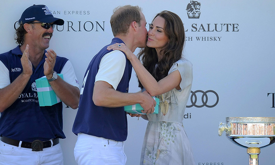 <a href=/tags/0/kate-middleton><strong>Duchess Kate</strong></a> gave <a href=/tags/0/prince-william><strong>Prince William</strong></a> a kiss on the cheek after he played in the Audi Polo Challenge at Santa Barbara Polo Club on July 9, 2012.