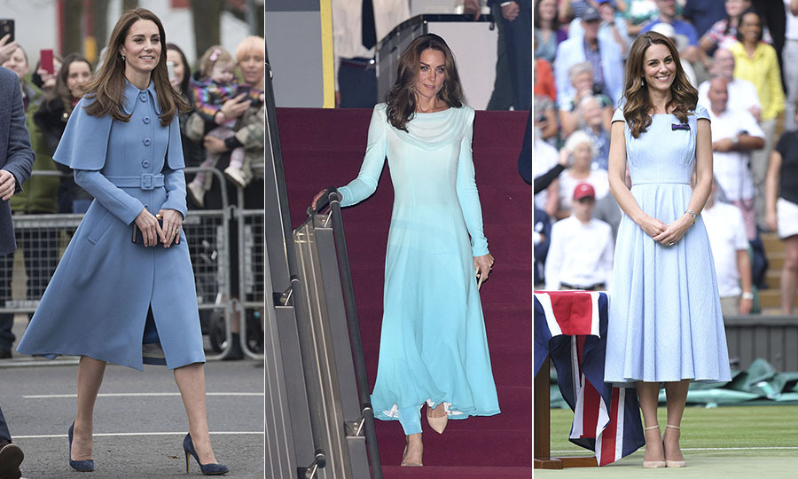 <strong>By Heather Cichowski</strong><p><a href=/tags/0/kate-middleton><strong>Duchess Kate</strong></a> looks gorgeous in every colour of the rainbow. One of her favourite colours to wear is blue. Whether in deep navy or aqua, she carries off the colour so well. One of her go-to shades is sky blue. Over the years, the mom of three has worn the almost-periwinkle shade in gowns, coats and everything in between. And the Duchess of Cambridge has wowed us each time! <p><strong>Scroll through the gallery (or click through if you're on desktop) to see all the times Duchess Kate has captivated in blue.</strong><p>Photos: &copy; Pool/Getty Images, Karwai Tang/WireImage, Karwai Tang/Getty Images