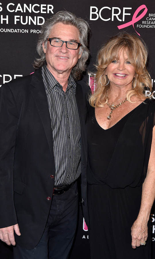 <h2>Goldie Hawn and Kurt Russell</h2>