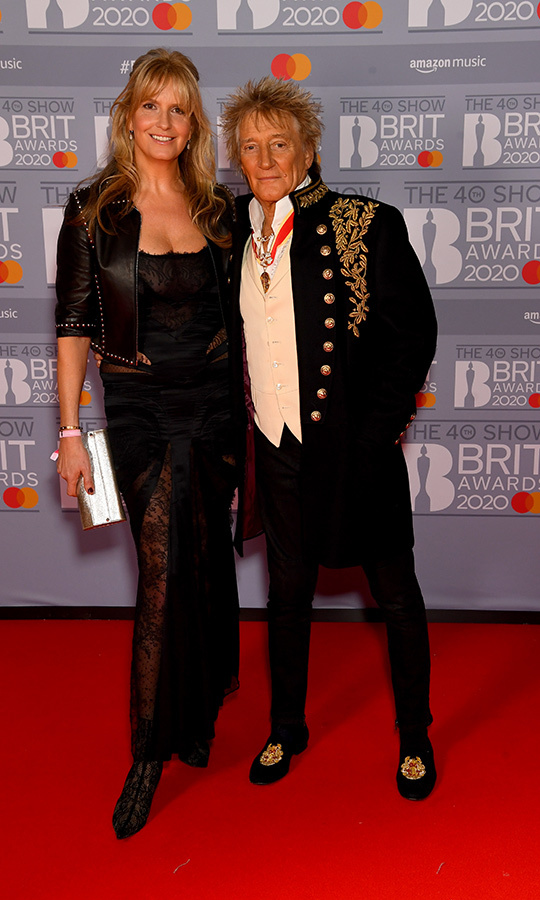 <a href=/tags/0/penny-lancaster><strong>Penny Lancaster</A></strong> and <strong><a href=/tags/0/rod-stewart>Rod Stewart</a></strong> looked regal in leather, lace and military trim, with Rod proudly wearing his CBE medal. 