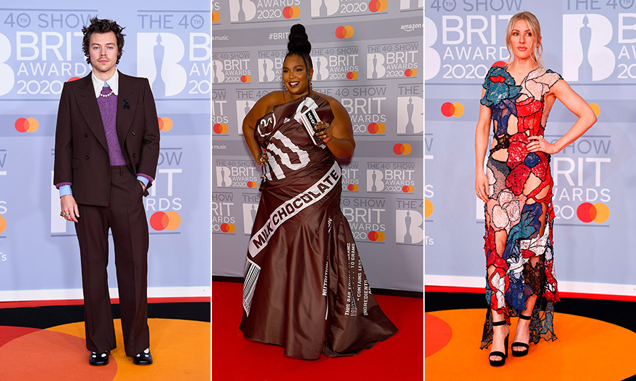 The <Strong><a href=/tags/0/brit-awards>BRIT Awards</a></strong> turn 40 this year, and once again in 2020, some of the UK's biggest stars – and international ones, too! – were out in force to celebrate! From <a href=/tags/0/harry-styles><strong>Harry Styles</a></strong>'s suit-with-blouse-and-pearls to <strong><a href=/tags/0/lizzo>Lizzo</a></strong>'s incredible Hershey-inspired gown, they brought their very best sartorial choices, too.