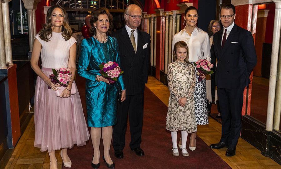 Several members of the <a href=/tags/0/swedish-royals><strong>Swedish royal family</strong></a>, including <a href=/tags/0/princess-sofia><strong>Princess Sofia</strong></a>, <a href=/tags/0/queen-silvia><strong>Queen Silvia</strong></a>, <a href=/tags/0/king-carl-gustaf><strong>King Carl XVI Gustaf</strong></a>, <a href=/tags/0/princess-estelle><strong>Princess Estelle</strong></a>,<a href=/tags/0/crown-princess-victoria><strong>Crown Princess Victoria</strong></a> and <a href=/tags/0/prince-daniel><strong>Prince Daniel</strong></a>, put on their best formal looks to attend a concert hosted by Lilla Akademien, a music school for children, at Vasa Theater on Feb. 13 in Stockholm. <p>Photo: &copy; Michael Campanella/Getty Images