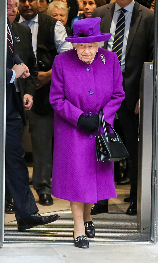 <a href=/tags/0/queen-elizabeth-ii><strong>Her Majesty</strong></a> was not to be missed in an eye-catching purple coat and matching hat during the official opening of the new Royal National ENT and Eastman Hospitals on Huntley Street in London on Feb. 19. <p>Photo: &copy; Dinendra Haria/Anadolu Agency via Getty Images