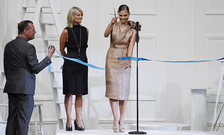 <a href=/tags/0/crown-princess-victoria><strong>Crown Princess Victoria</strong></a> of Sweden had the honour of cutting the ribbon at the <strong>Fadi El Khoury</strong> Spring/Summer 2013 fashion show during Mercedes-Benz Stockholm Fashion Week on Aug. 27, 2012. <p>Photo: &copy; Andreas Rentz/Getty Images