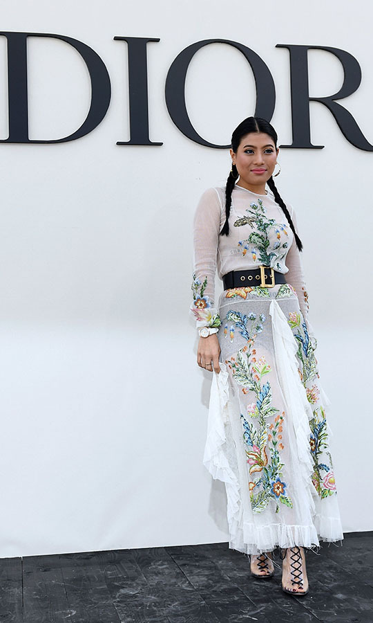 <a href=/tags/0/Princess-sirivannavari><strong>Princess Sirivannavari Nariratana</strong></a> of Thailand struck a stylish pose ahead of attending the <a href=/tags/0/dior><strong>Christian Dior</strong></a> Spring/Summer 2019 fashion show during Paris Fashion Week on Sept. 24, 2018. <p>Photo: &copy; ANNE-CHRISTINE POUJOULAT/AFP via Getty Images