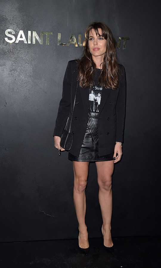 <a href=/tags/0/charlotte-casiraghi><strong>Charlotte Casiraghi</strong></a> looked very cool at the <a href=/tags/0/saint-laurent><strong>Saint Laurent</strong></a> Womenswear Spring/Summer 2020 show during Paris Fashion Week on Sept. 24, 2019. <p>Photo: &copy; Dominique Charriau/WireImage