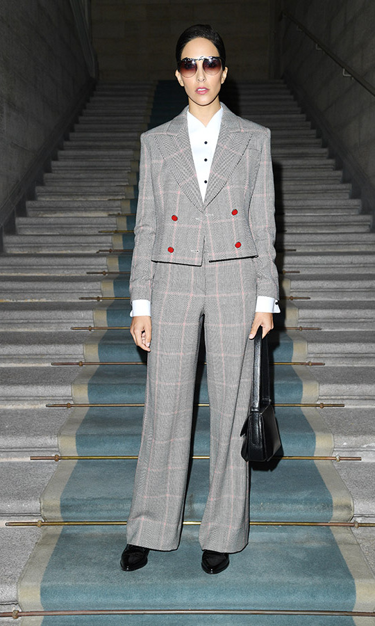 <a href=/tags/0/princess-deena><strong>Princess Deena</strong></a> of Saudi Arabia looked so sharp at the <a href=/tags/0/armani><strong>Giorgio Armani</strong></a> Spring/Summer 2020 fashion show during Milan Fashion Week on Sept. 21, 2019. <p>Photo: &copy; Daniele Venturelli/Daniele Venturelli/WireImage