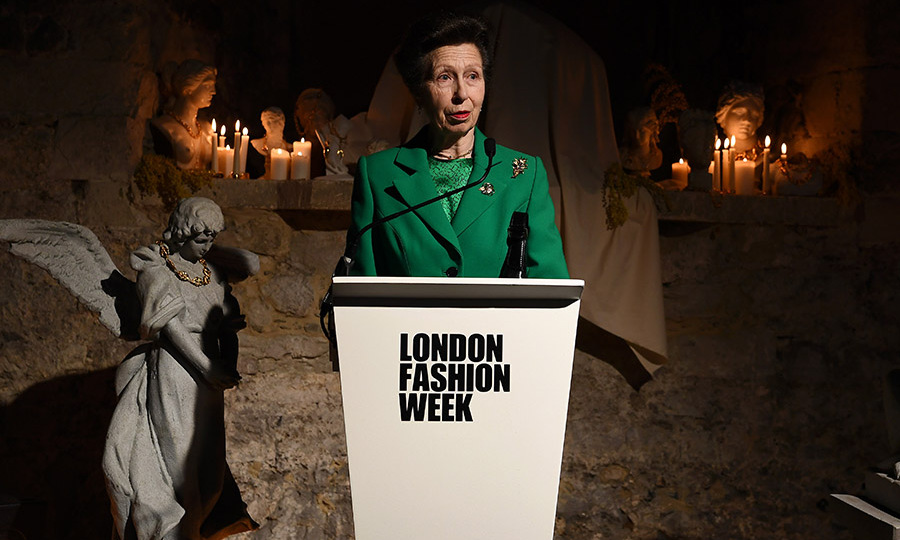 <a href=/tags/0/princess-anne><strong>Princess Anne</strong></a> made her London Fashion Week debut in the Fall 2020 season on Feb. 18! She presented jewellery designer <strong>Rosh Mahtani</strong> of <a href=/tags/0/aligheri-jewellery><strong>Alighieri Jewellery</strong></a> with The Queen Elizabeth II Award for British Design. <p>Photo: &copy; Jeff Spicer/BFC/Getty Images for BFC