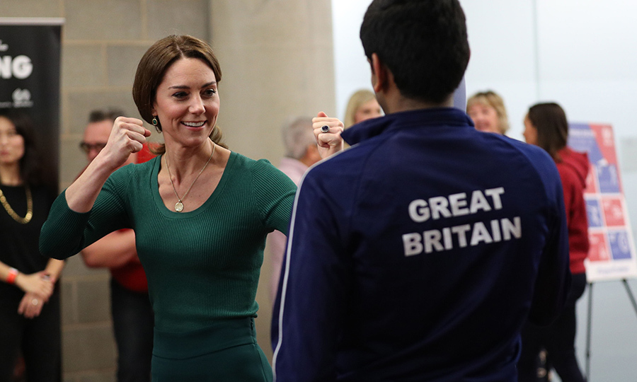 "She was also taught some judo moves herself, and according to the <i><a href=https://www.expressandstar.com/news/uk-news/2020/02/26/kate-packs-a-punch-as-she-meets-young-athletes/>Express and Star</i></a>, she throws a ""mean punch""! 