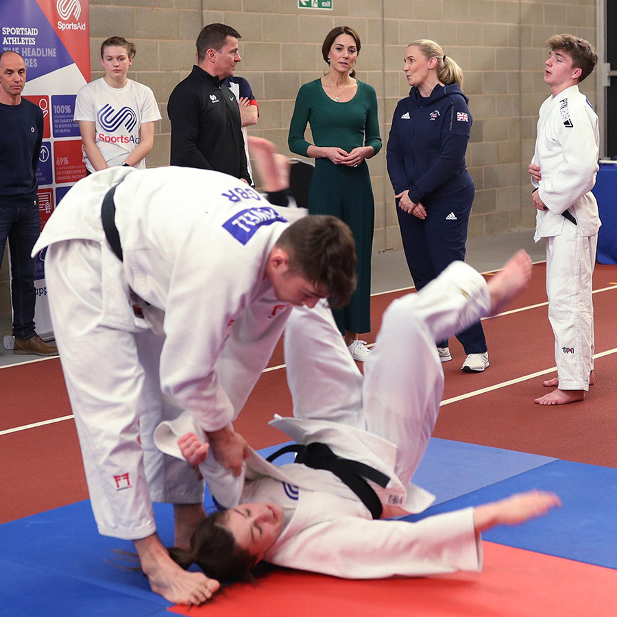 Kate also got the chance to see a judo demonstration and learn about how the martial art is helping children's lives. 