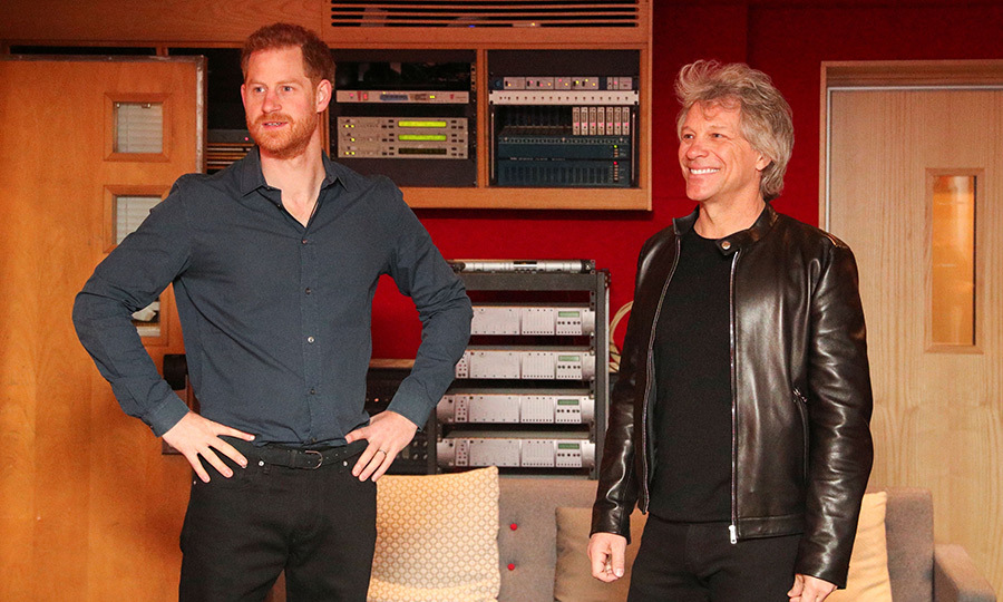 Once inside, Harry and Jon headed to a recording booth and cut part of the track. Then they stood and took in the full glory of the Invictus Games Foundation's choir recording its vocals!