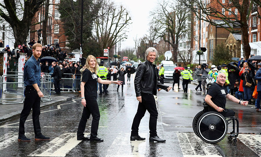 For the highlight of the day, everyone went outside and recreated the iconic cover photo from <strong>The Beatles</strong>' <i>Abbey Road</i>!