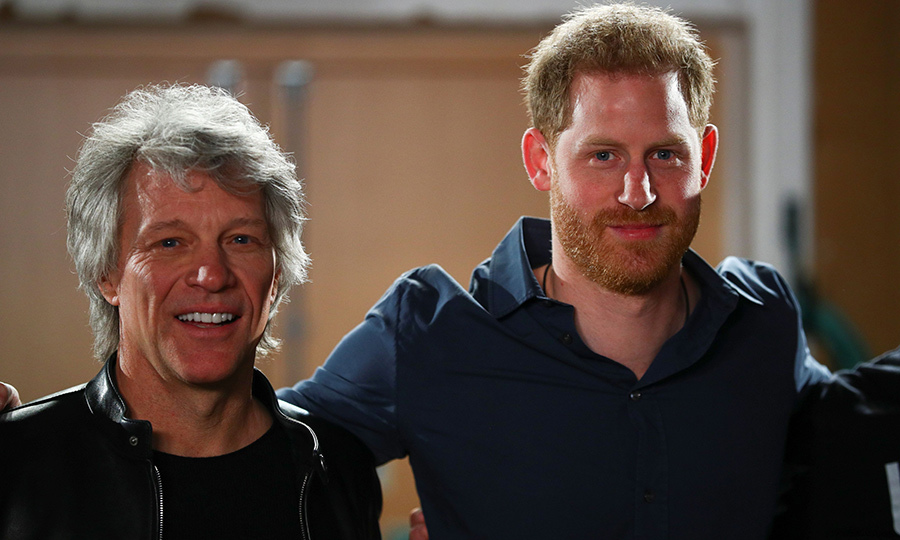 "On Feb. 28, <Strong><a href=/tags/0/prince-harry>Prince Harry</a></strong> travelled to London's Abbey Road Studios for his second engagement since arriving back in the UK. While there, he met with <strong><a href=/tags/0/jon-bon-jovi>Jon Bon Jovi</a></strong> and members of the <strong><A href=/tags/0/invictus-games>Invictus Games</a></strong> Choir to re-record <strong>Bon Jovi</strong>'s ""Unbroken.""