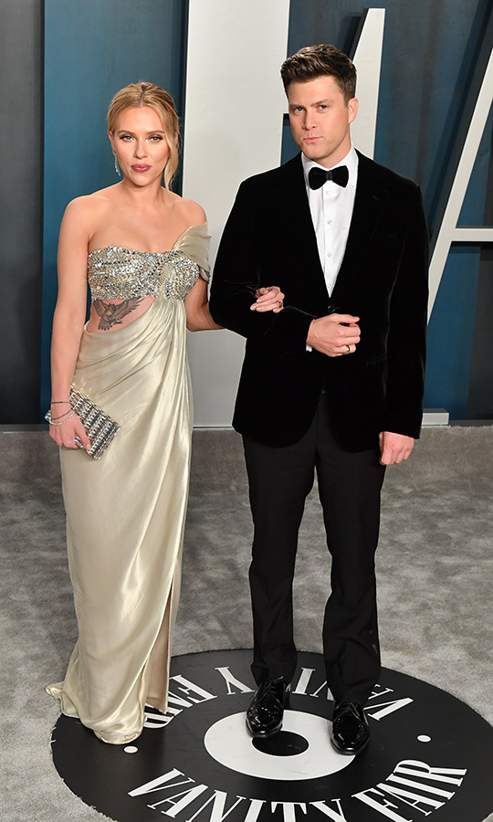 <h2>Scarlett Johansson and Colin Jost</h2>