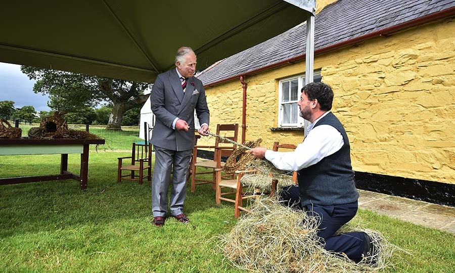 Prince Charles took part in a wicker chair making demonstration at Muckross House in Killarney on June 15, 2018. <p>Photo: &copy; Charles McQuillan/Getty Images