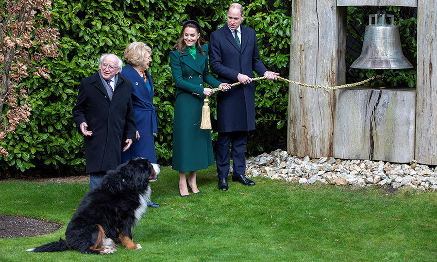 They also rang the Pace Bell in Phoenix Park, which is on the grounds of the president's residence. The pupper was keen to help, as you can see. 