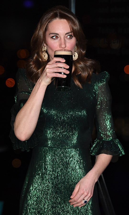 "Slainte! Kate enjoyed her pint as William gave a toast and said ""Cheers"" in Gaelic. 