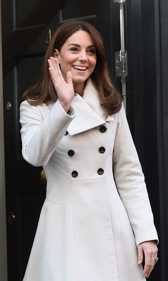 Here's a closer look at Kate's gorgeous coat...