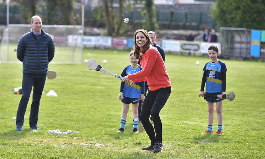 <a href=/tags/0/prince-william><strong>Prince William</a></strong> and <Strong><a href=/tags/0/kate-middleton>Duchess Kate</a></strong> capped their three-day tour of Ireland off in sporty style on March 5 with a visit to Galway.