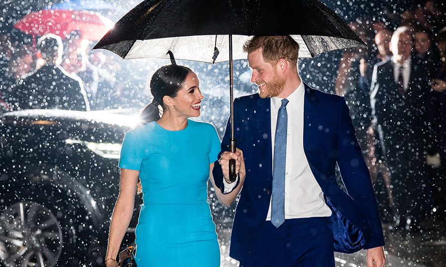 On March 5, 2020, <strong><a href=/tags/0/meghan-markle>Duchess Meghan</a></strong> and <Strong><a href=/tags/0/prince-harry>Prince Harry</a></strong> stepped out for the first time since they announced their exit from their senior royal roles in January. The couple attended the Endeavour Fund Awards at Mansion House in London, and looked very happy to be there – despite the torrential downpour!