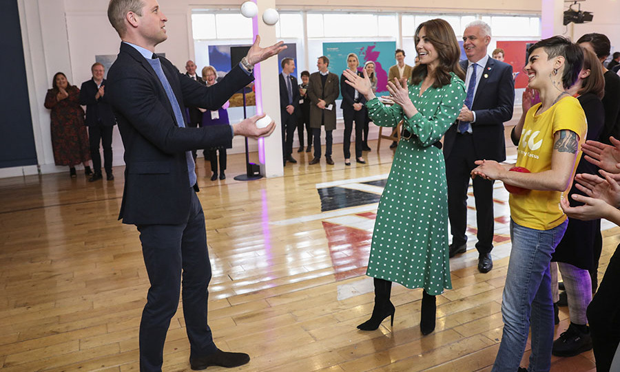 "Duchess Kate wore a bespoke Valerie dress from <strong>Suzannah</strong></a> to visit with performers at Tribeton in Galway on March 5. She accessorized with tall black <a href=""https://ca.hellomagazine.com/tags/0/ralph-lauren""><strong>Ralph Lauren</strong></a> boots and <a href=""https://ca.hellomagazine.com/tags/0/daniella-draper""><strong>Daniella Draper</strong></a> shamrock earrings and the matching necklace.