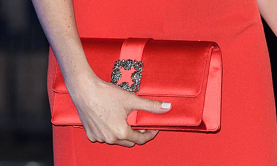 Here's a closer look at Meghan's clutch.
