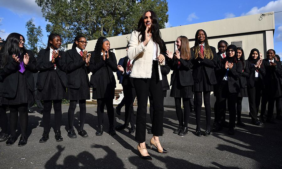 Meghan was really thrilled with the welcome the students gave her! 