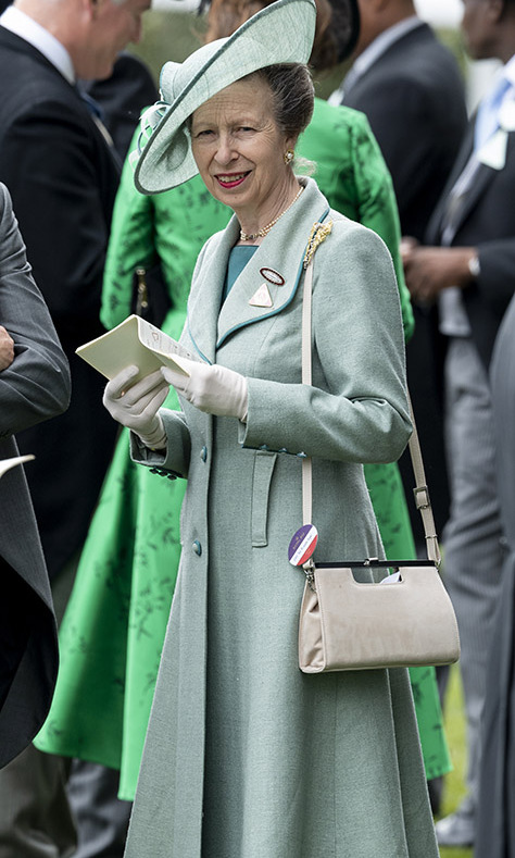 <a href=/tags/0/princess-anne><strong>Princess Anne</strong></a> was charming in a sea foam green coat and coordinating fascinator when she stepped out to Ladies Day at <a href=/tags/0/royal-ascot><strong>Royal Ascot</strong></a> on June 20, 2019.